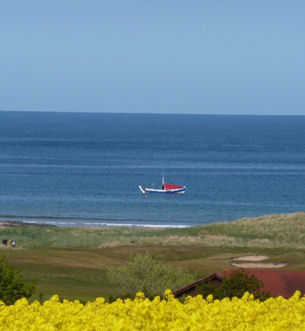 A coble on Embleton Bay